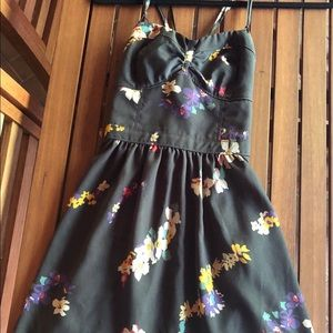American Eagle patterned strapless dress